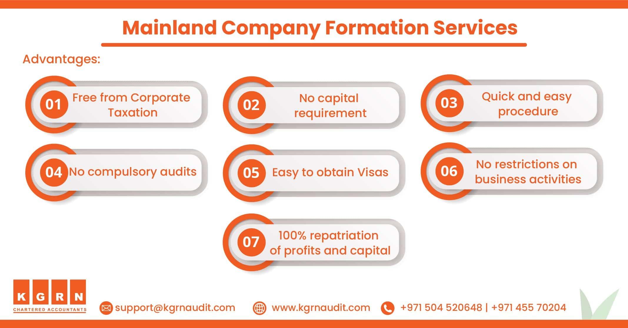 Advantages Mainland Company Formation min