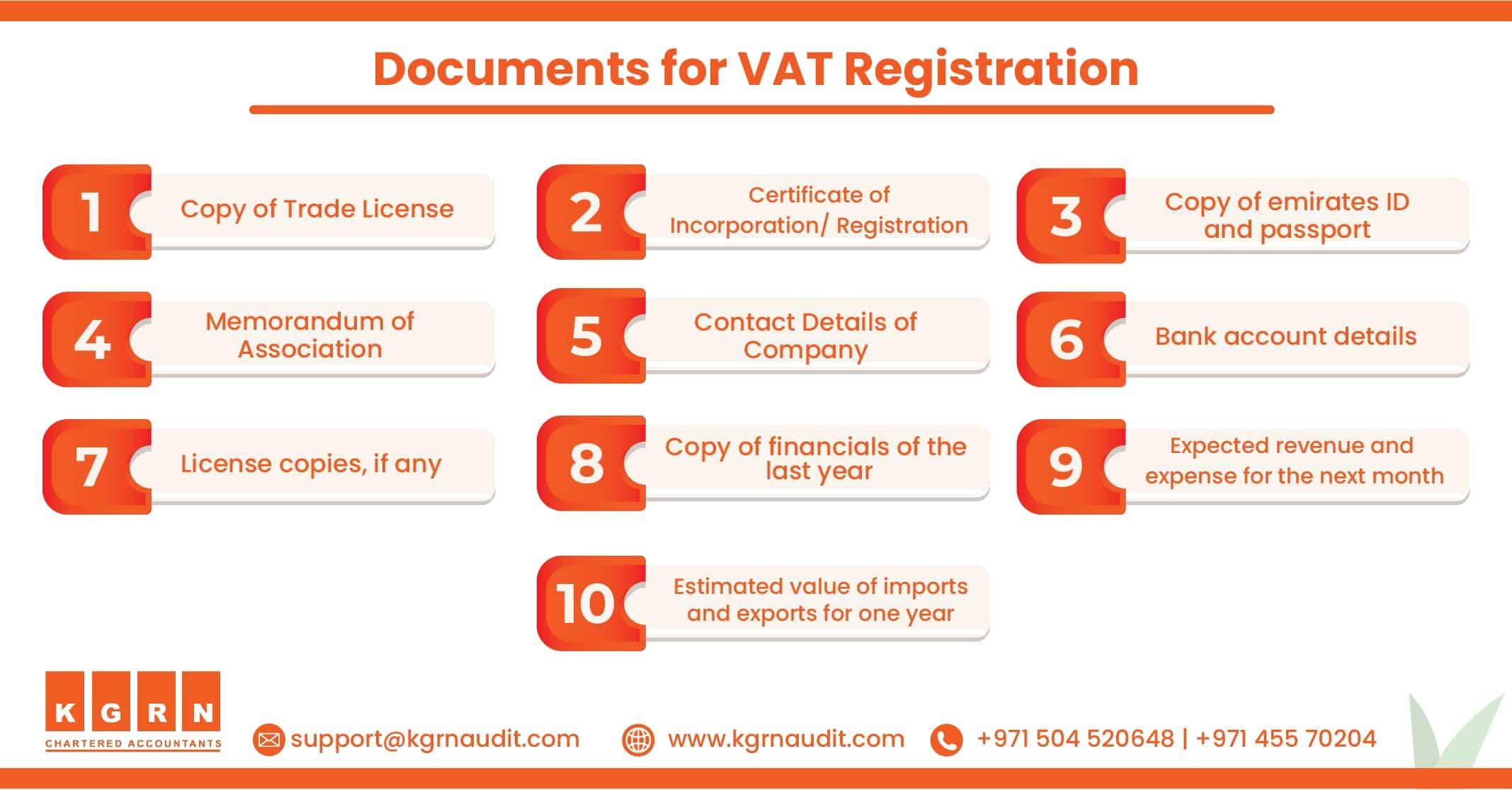 Blog Documents for VAT Registration min